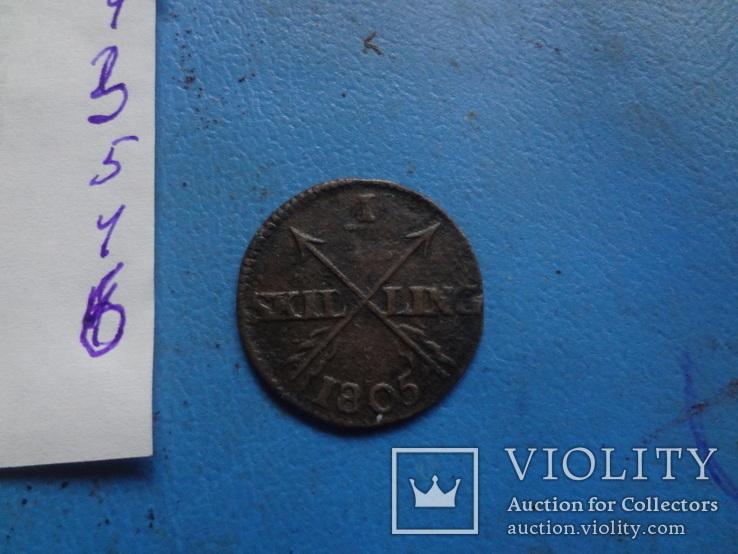 1/12 скиллинга 1799  Дания  (5.4.6) ~, фото №4