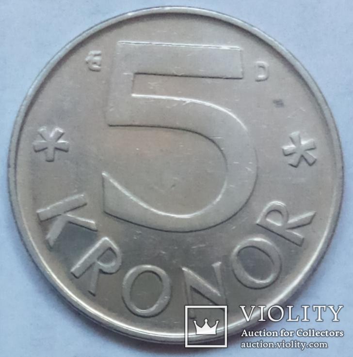 5 крон 1987 г. Швеция, фото №3