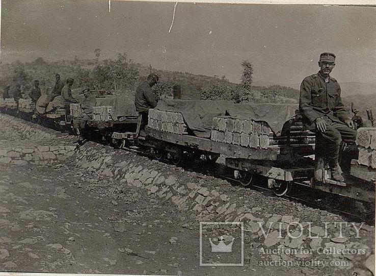 Шильда от паровоза полевой узкоколейки.Австро-Венгрия., фото №6
