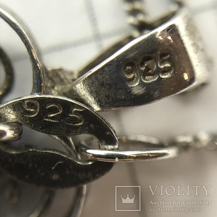 Подвес сердце серебро на цепочке, фото №7