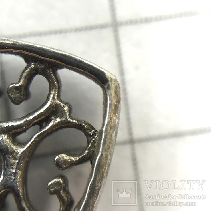 Подвес сердце серебро на цепочке, фото №8
