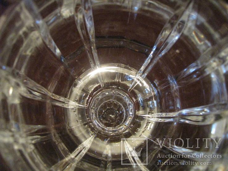Ваза - кубок - Тюльпан - хрустальное стекло- высота 18 см., фото №11