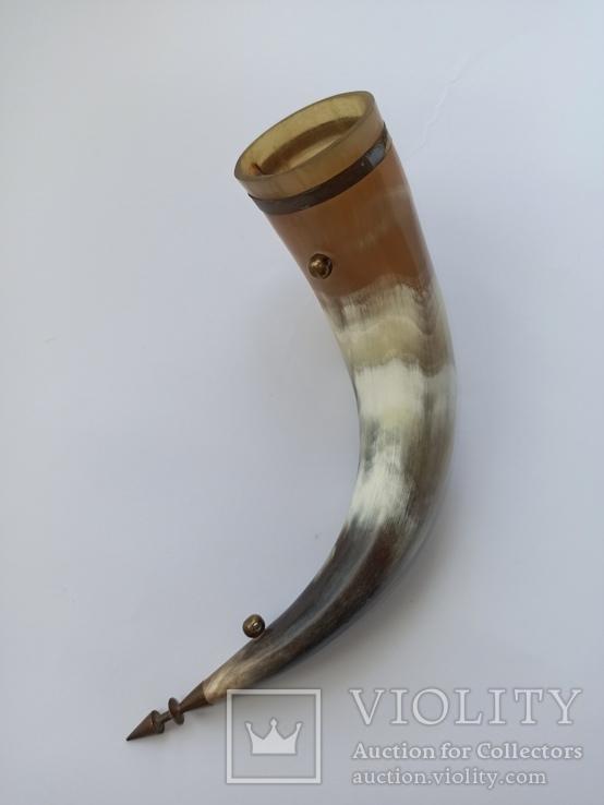 Рог для вина сувенирный. СССР., фото №3