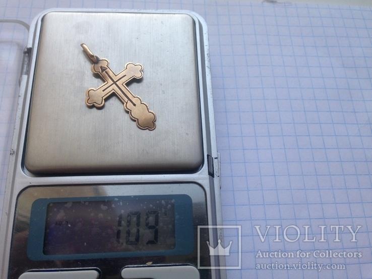 Крестик золото 56 проба., фото №7