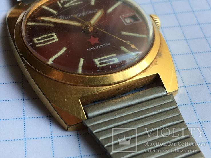 Часы Командирские Ау-10 на ходу Чистополь заказ МО СССР+ браслет см.видео, фото №5