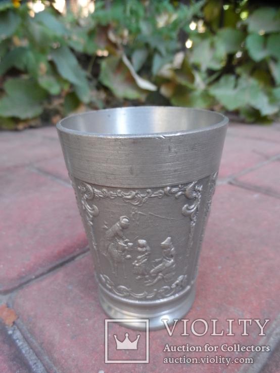 Набор бокалов 5 + рюмка Пищевое олово Европа  ( вес 2,400 ), фото №12