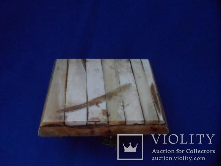 Шкатулка для украшений натуральная кость резьба Европа, фото №11