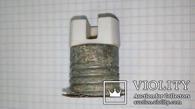Керамический электрический немецкий патрон с ПМВ с клеймом, фото №2
