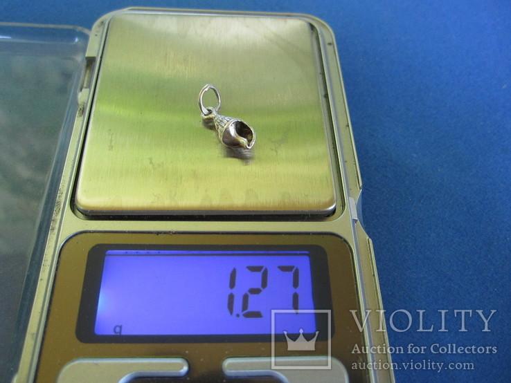 Кулончик ракушка серебро., фото №6