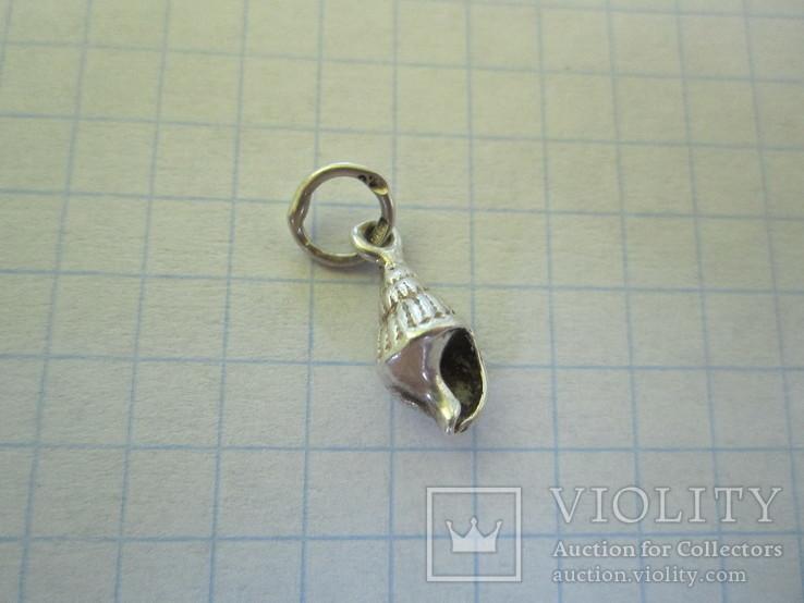 Кулончик ракушка серебро., фото №8