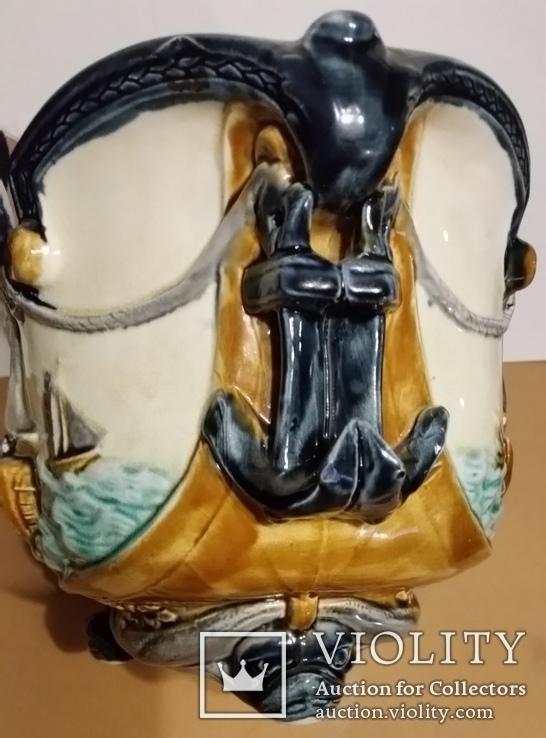 Жардіньєрка, майоліка, Франція, Н20,5х35,5х21 см, фото №4