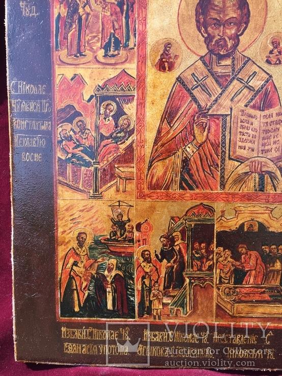 Икона Николай в житии, фото №4