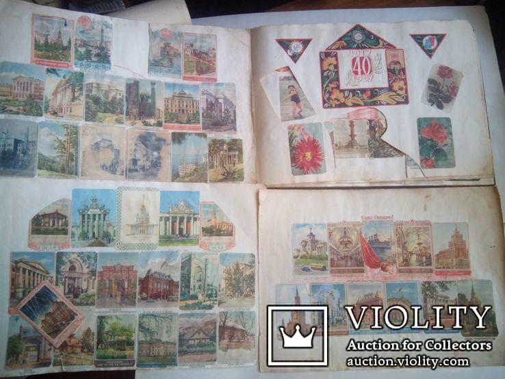 Альбом с вырезками из почтовых конвертов (34листа), фото №4