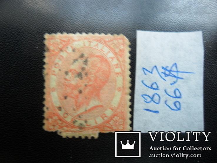 Италия. Классика. 1863 г. Король.  2 лиры. каталог- 66 дол. США, фото №2