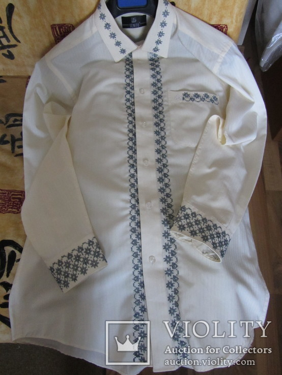 Мужская рубашка-вышиванка. Ручная работа., фото №5