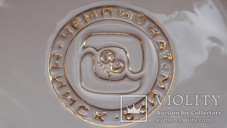 Памятная фарфоровая медаль ЧМ по борьбе Минск 1975 год, фото №12