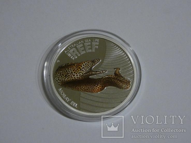 Морская жизнь Австралии - Мурена - серебро, 50 центов, фото №5