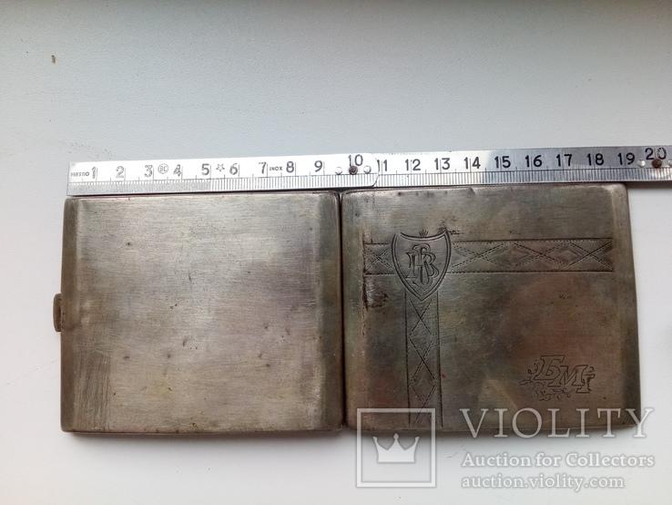 Портсигар срібло,kim Польща 1920-ті.102+грам., фото №4
