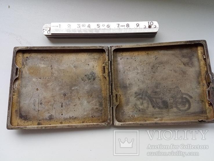 Портсигар срібло,kim Польща 1920-ті.102+грам., фото №2