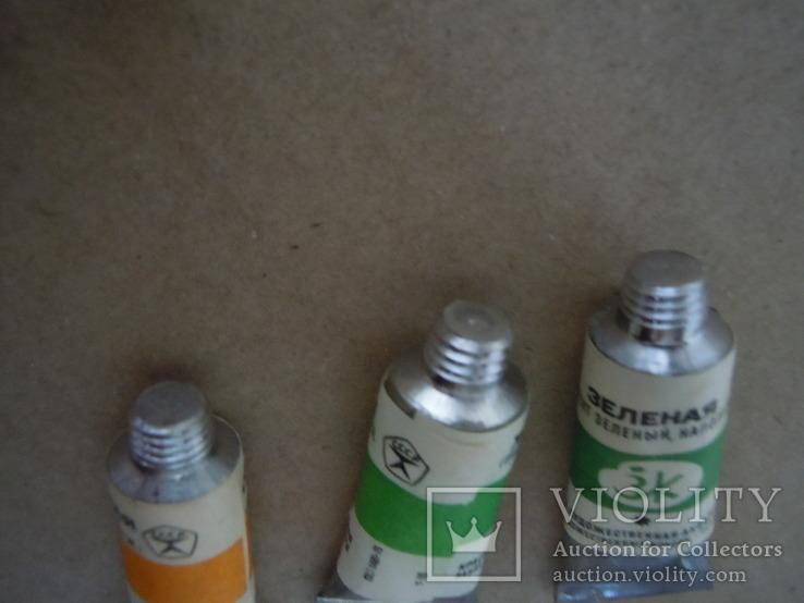 6 новых тюбиков краски ГОСТ 1975 года, фото №7