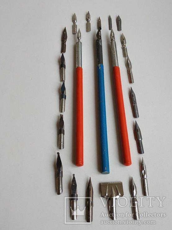 3 перьевые ручки и 20 шт. перьев, фото №2