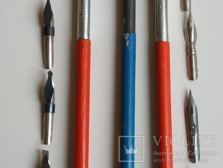 3 перьевые ручки и 20 шт. перьев, фото №4