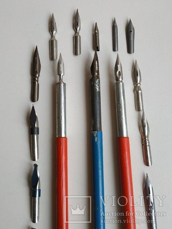3 перьевые ручки и 20 шт. перьев, фото №6