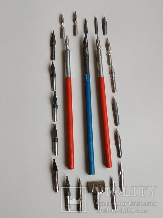 3 перьевые ручки и 20 шт. перьев, фото №7