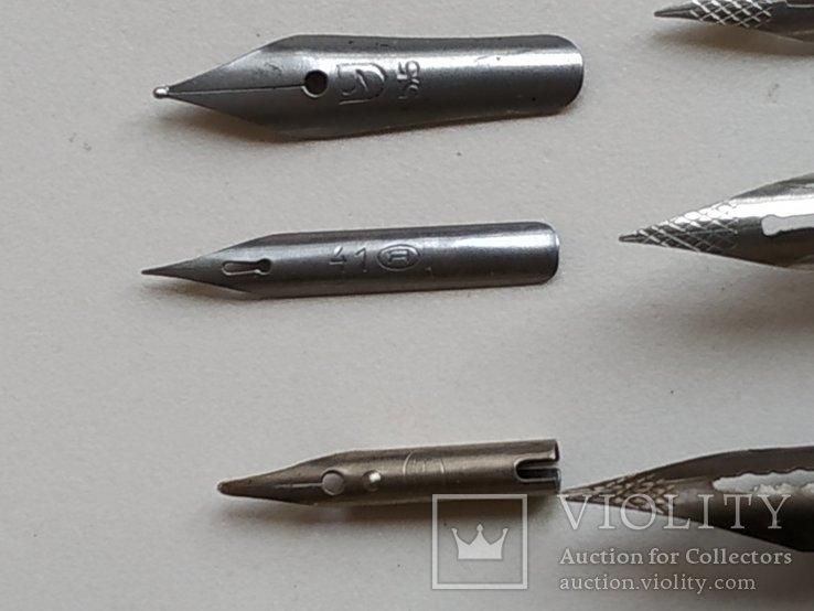 3 перьевые ручки и 20 шт. перьев, фото №9