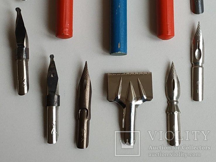 3 перьевые ручки и 20 шт. перьев, фото №10