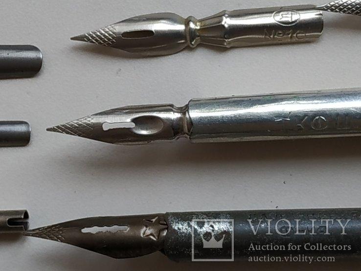 3 перьевые ручки и 20 шт. перьев, фото №11