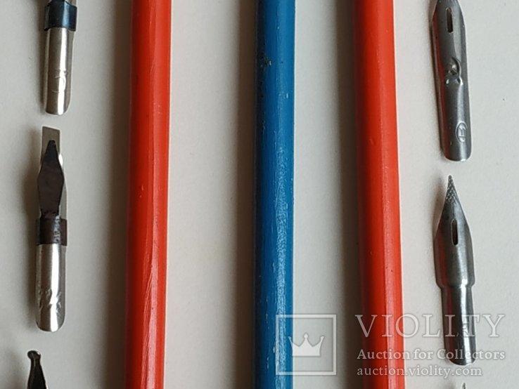 3 перьевые ручки и 20 шт. перьев, фото №13