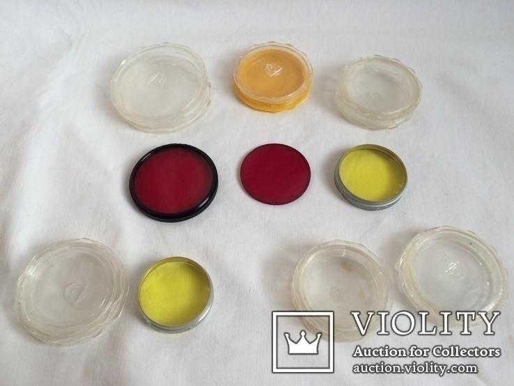 Цветные светофильтры и коробочки от них, фото №3