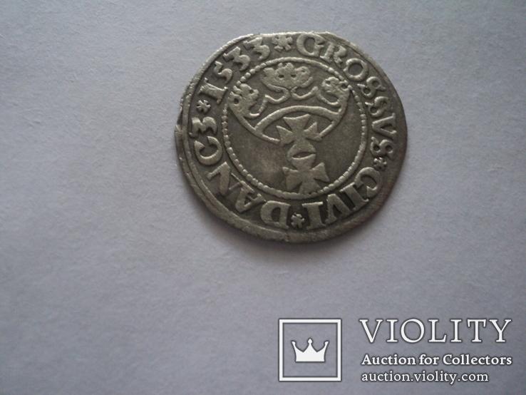 Гданский грош 1533 г, фото №7