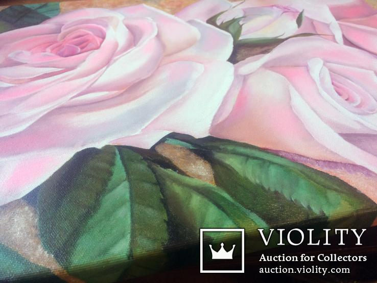 Картина маслом 40х60 Розы, фото №5