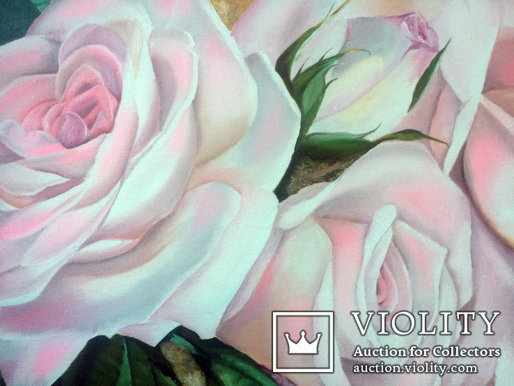 Картина маслом 40х60 Розы, фото №6