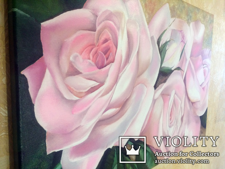 Картина маслом 40х60 Розы, фото №8