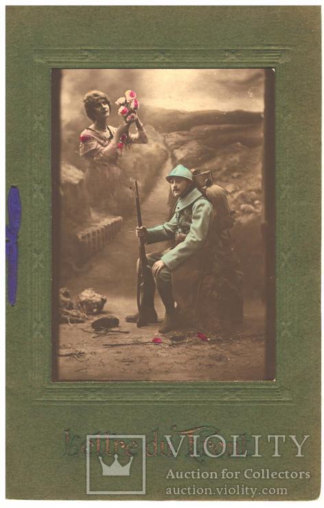 Открытка Письмо с передовой 1916 год со стихами  Первая мировая война Франция, фото №2