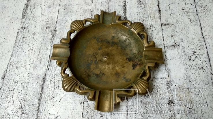 Пепельница бронза,16 см, фото №3