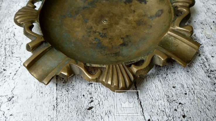 Пепельница бронза,16 см, фото №4