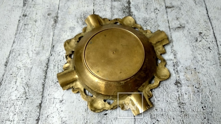 Пепельница бронза,16 см, фото №5