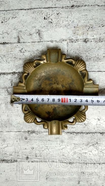 Пепельница бронза,16 см, фото №7