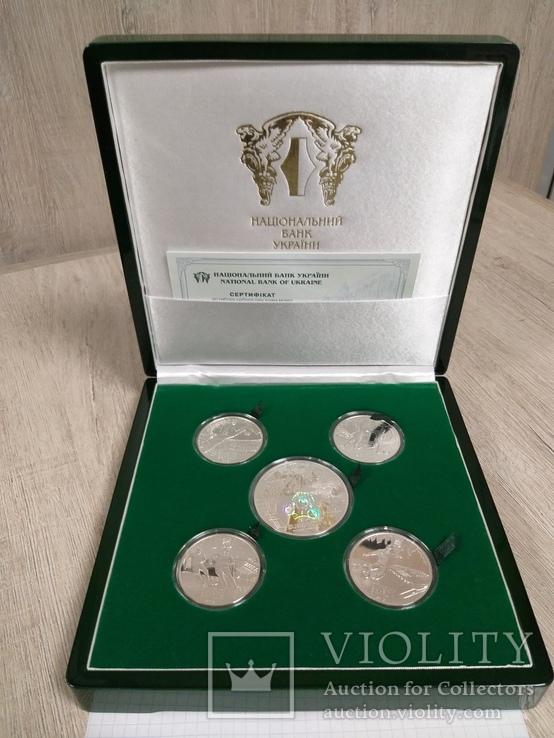 Набор Евро 2012 в элитном футляре, сертификат 508, серебро.