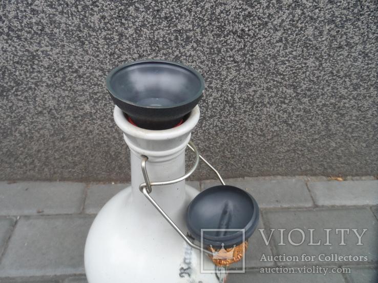 Кувшин бутылка для пива вина 2 L Стекло Германия лот 2, фото №9