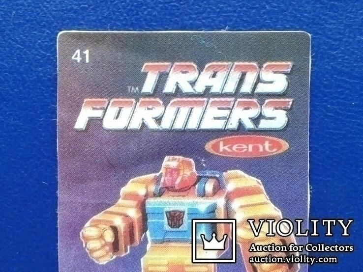 Вкладыши Marvel №23, Trans formers №41., фото №8