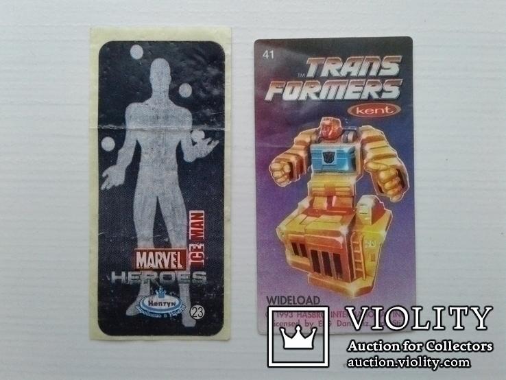 Вкладыши Marvel №23, Trans formers №41., фото №12