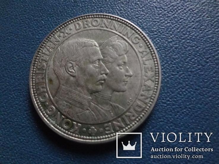 2 кроны 1923  Дания серебро   (N.1.10)~, фото №3