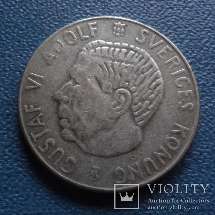 1 крона 1954  Швеция  серебро  (N.3.4)~, фото №3