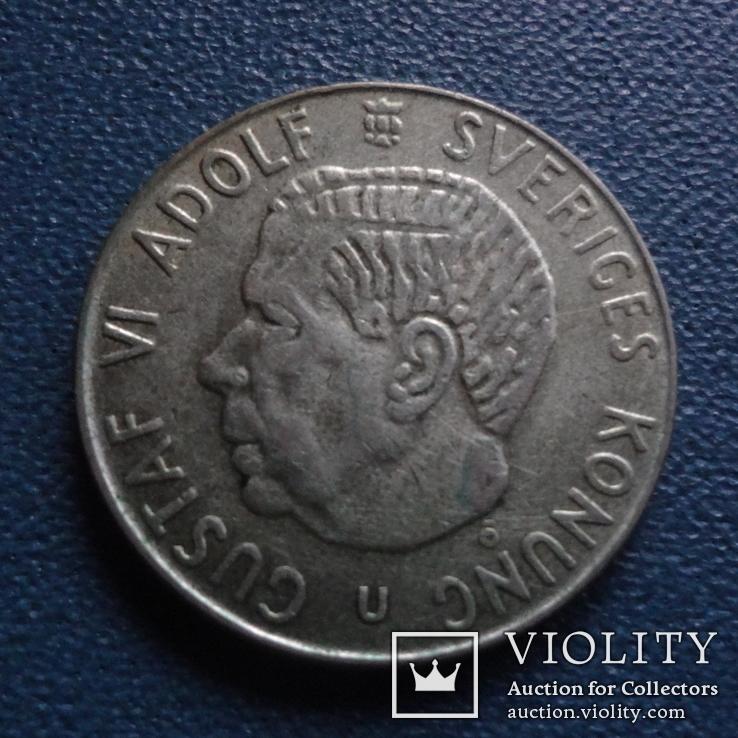1 крона 1961  Швеция  серебро  (N.2.10)~, фото №3