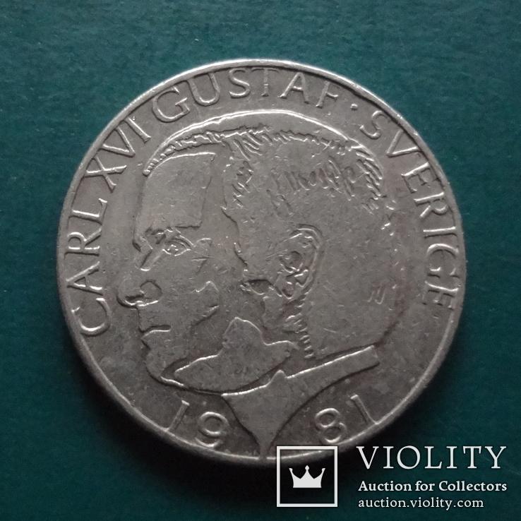 1 крона  1981  Швеция  (N.11.12)~, фото №2